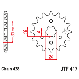 Palec mocowania silnika MZ ETZ150