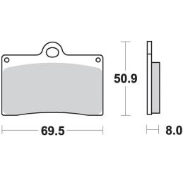 Klocki hamulcowe SBS 566 HF