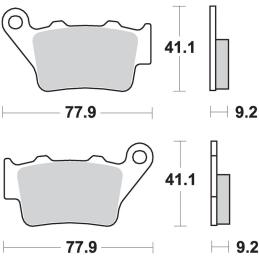 Uchwyt lusterka M10 R, srebrny 1cal CNC