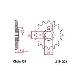 Uchwyt silnika WSK125 B1 WFM M06 SHL - z przodu