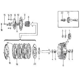 Zestaw naprawczy gaźnika CAB-K4 Kawasaki GPZ500