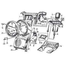 Gaźnik 4T Motorower 50cm3 - 110cm3 - ssanie ręczne