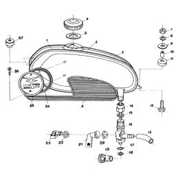 Przelotka gumowa przewodów Simson MZ - czarna