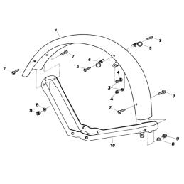 Uszczelka alternatora Yamaha XV535 Virago