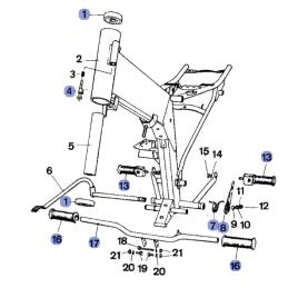 Uszczelki silnika Romet Chart kpl. tektura PL