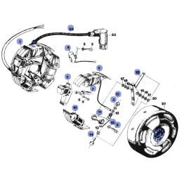 Silnik - Stator - WSK125 B3