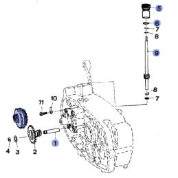 Sprężyna z miską koła startera WSK SHL ETZ150 kpl.