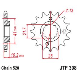 Linka hamulca Junak M10 - przód 113cm - czarna PL
