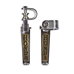 Spacerówki - chrom, napis Honda - złote