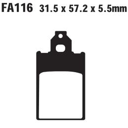 Klocki hamulcowe EBC FA116 S
