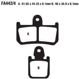 Klocki hamulcowe EBC FA442 /4