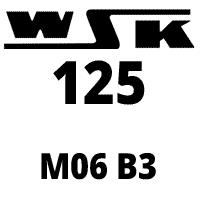 Schemat części WSK125 M06B3 Garbuska