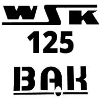 Schemat części WSK125 M06B3 Bąk