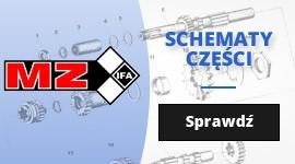 Motocykle MZ - schematy części